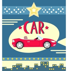 car poster vector image