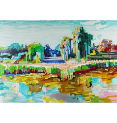 marker painting of landscape vector image
