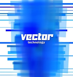 Background with blue blurred lines vector