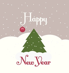 Greeting card with a picture of a Christmas tree vector image