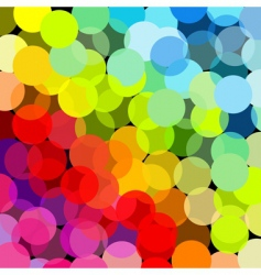 Abstract rainbow made of circles vector