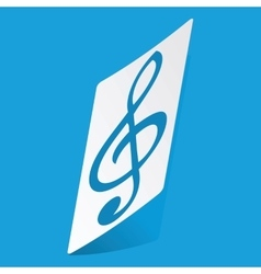Treble clef sticker vector