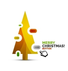 Christmas internet button on white background with vector
