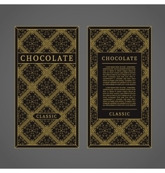 Chocolate template vector