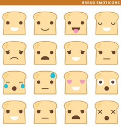 Bread emoticons vector