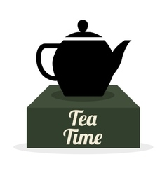 Tea time icon drink concept flat illiustration vector