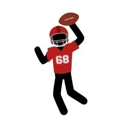 american football player icon vector image