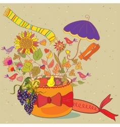 autumn present vector image