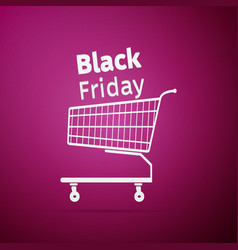 black friday sale shopping cart icon vector image vector image