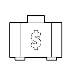 Briefcase with money symbol vector