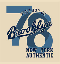 Brooklyn new york authentic vector
