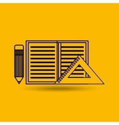 Calculator paper pencil education tools vector