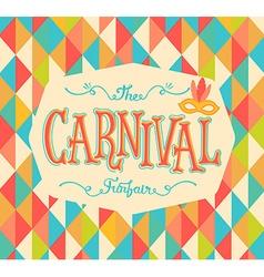 Carnival funfair background vector image