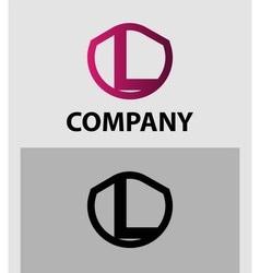 Corporate logo l letter company design temp vector