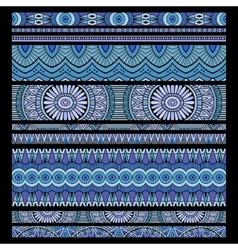 ethnic seamless stripes background set vector image
