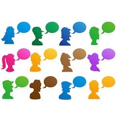 human head with speech bubble vector image vector image