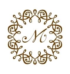 M logo badge vector image