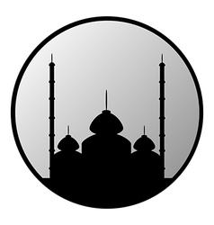 Mosque button vector image vector image