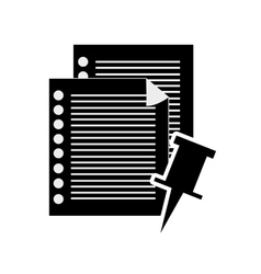 notepad and documents icon vector image vector image