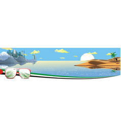 Panorama - the arabian resort on the coast vector