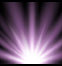rays of light from below purple color vector image