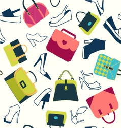 Set icons of Women bags and shoes - vector image