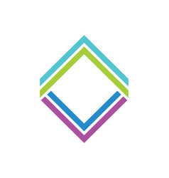 Square line colorful geometry logo vector