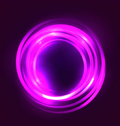square with glowing circular frame element vector image