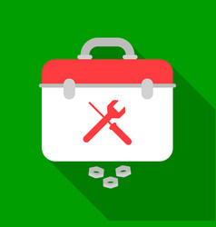 Toolbox icon in flat style isolated on white vector