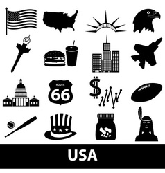 United states of america country theme symbols vector