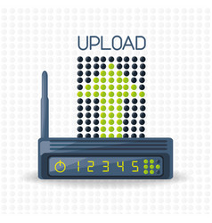 wifi router icon related with upload internet vector image