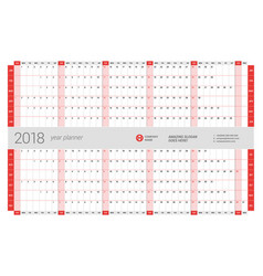 yearly wall calendar planner template for 2017 vector image