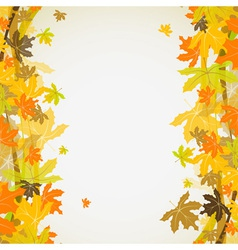 Maple autumn background vector