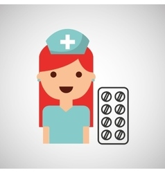 Nurse character pharmacy medicine design vector