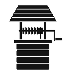 Water well icon simple style vector image