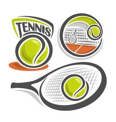 Tennis equipment vector