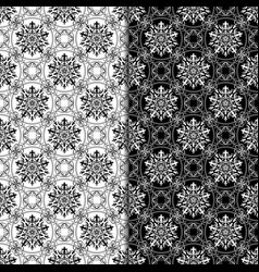 Abstract seamless pattern black and white set vector