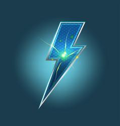 Lightning spark bolt icon symbol vector