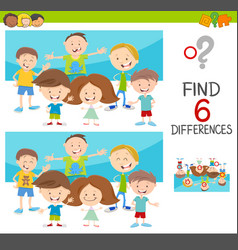 Spot the differences with kids vector