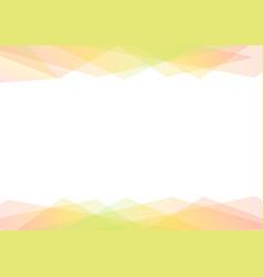 Green and orange geometric spectrum abstract vector