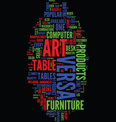 Technology meets art at versa products text vector