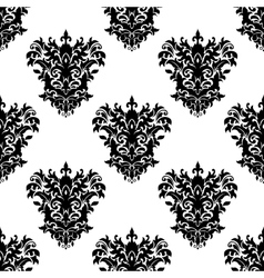 Seamless floral decorative pattern vector image