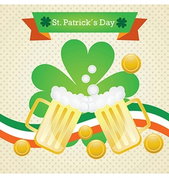 St patricks day elements on vintage background mon vector