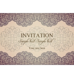 Baroque invitation patina vector