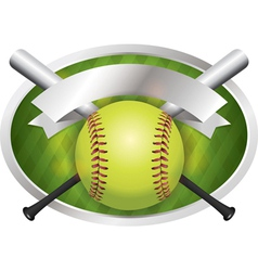 Softball champions emblem vector