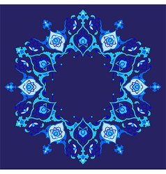 Blue artistic ottoman pattern series fifty eight vector