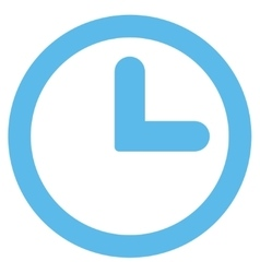 Clock flat blue color icon vector