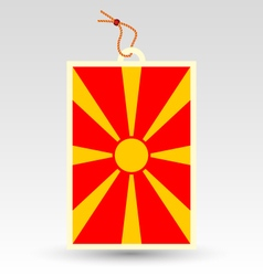 Macedonian made in tag vector