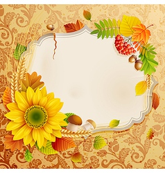 Autumn vintage greeting card vector