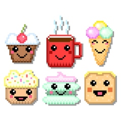 Pixel sweet set vector